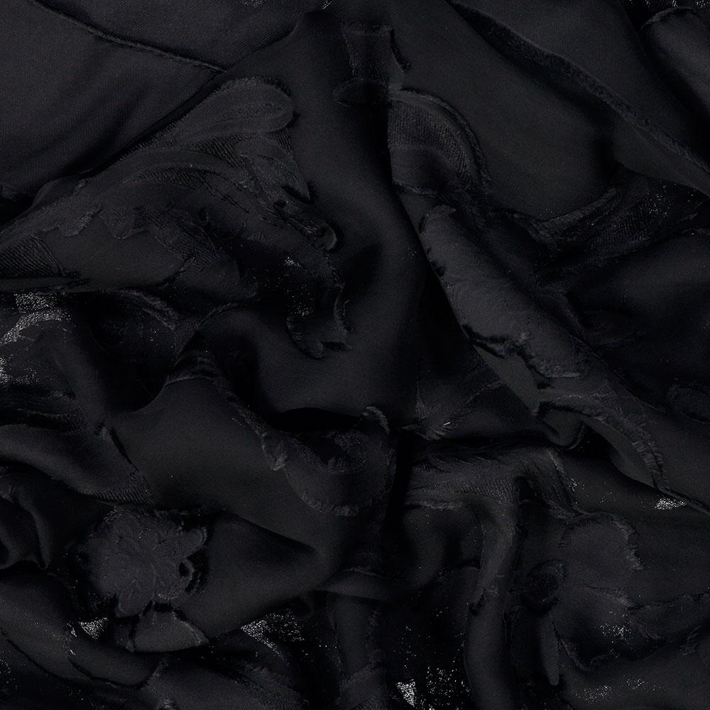 030630575a1 Detail 100% Silk Grace Foulard in Black